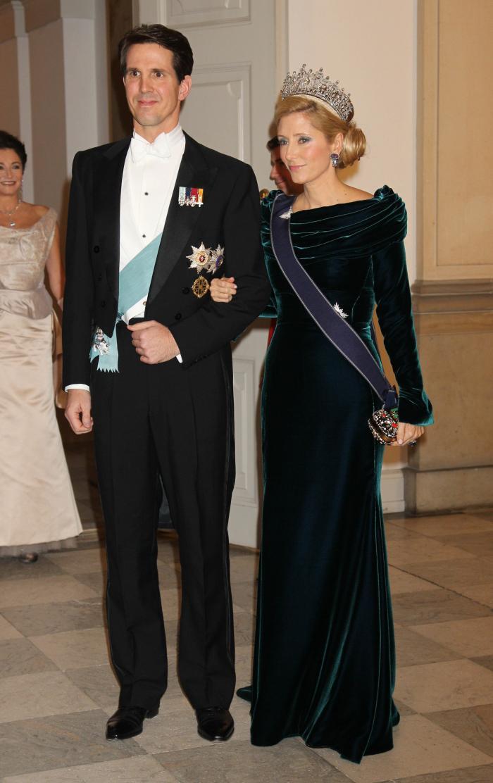 Marie Chantal en compañía de su esposo