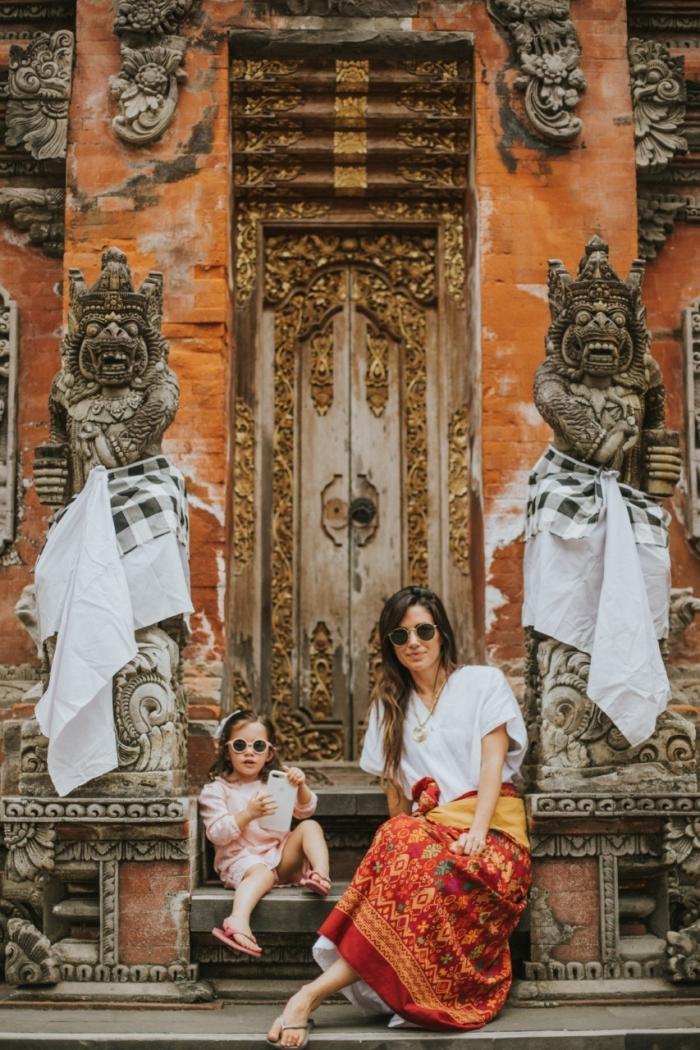 Macarena Chiriboga, junto a su hija