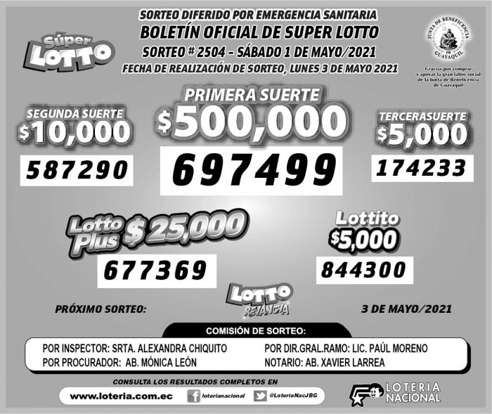 lotto lunes 3