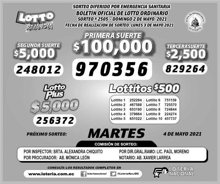 lotto 2505