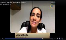 Viviana Bonilla en el Pleno Coronavirus