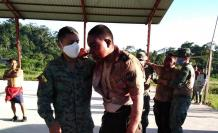 Policías agredidos en Huamboya
