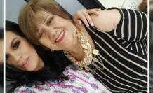 Pamela Palacios con su madre