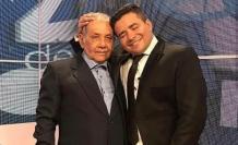 Henry Bustamante con su padre.