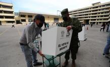 La elecciones avanzan con algunos retrasos.