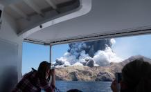Erupción en Nueva Zelanda