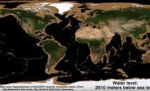 Foto de la Tierra sin sus océanos