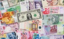 dinero monedas billetes