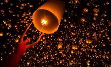 Festival Tailandia globo de los deseos