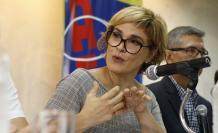 La alcaldesa Cynthia Viteri, en una de sus primeras intervenciones como administradora de Guayaquil