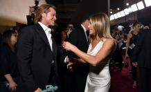 Brad Pitt y Jennifer Aniston durante la gala de los SAG.