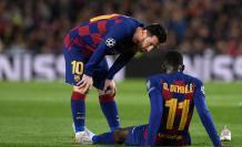 Messi y Dembélé - Barcelona