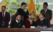 Se preparó la audiencia por el caso Sobornos al mando de los jueces Iván Saquicela, Marco Rodríguez e Iván León.