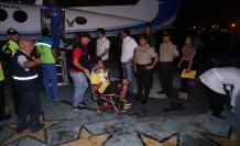 Los hinchas heridos llegaron junto al gobernador del Guayas.