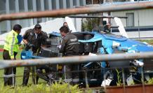 Helicoptero policial caído