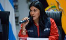 Catalina Andramuño, ministra de Salud de Ecuador. FOTO: EFE