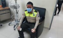 policía agredido en Pichincha