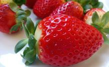 Frutillas, ricas en vitaminas C y E.