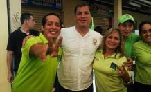 Rommel Salazar, Rafael Correa, Guadalupe Salazar