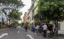 Ciclistas en el centro