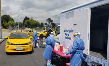 taxistas se toman pruebas PCR