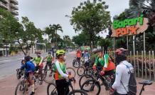 Día de la bicicleta ciclistas Guayaquil