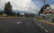 Tráfico vehicular a Quito