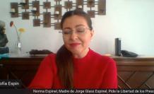Sofía Espín conduce un programa por la liberación de Jorge Glas.