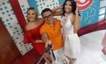 Cinthya  Naveda con Mauricio Altamirano en RTS.