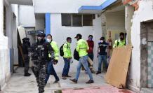 Parte del operativo de la Fiscalía en el que recaba indicios sobre una presunta estructura delincuencial en Ecuador.