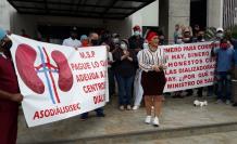 Enfermos renales protesta