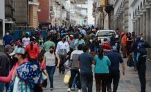 Circulación masiva en Quito.