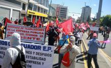 En Quito se realizaron protestas durante el aislamiento.