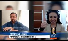 Andrea Samaniego, de Teleamazonas, entrevista a Fabricio Villamar