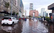 El martes 7 de julio se reportaron inundaciones en las calles cercanas a la Plataforma Financiera.