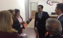 El fiscal Gustavo Benítez junto con representantes del Estado al finalizar la audiencia.