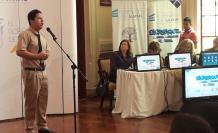 Diego Yánez, del colegio Vicente Rocafuerte, obtuvo el primer lugar en el concurso de oratoria.