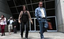 María Duarte junto a su abogado Diego Correa, el pasado 12 de agosto de 2019.