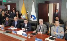En la sesión participaron el ministro de Hidrocarburos, Carlos Pérez, junto al viceministro Patricio Larrea; también el gerente de Petroecuador, Pablo Flores, y el representante del Programa de las Naciones Unidas para el Desarrollo (PNUD), Nuno Queiros.