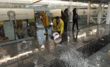Quito. En mayo del 2017, el edificio de la Plataforma Financiera se inundó en dos ocasiones. En ese entonces, las autoridades dijeron que aquello no fue por fallas en la infraestructura.