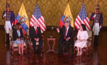 Visita. La llegada del vicepresidente de Estados Unidos, Mike Pence, fue clave para relanzar relaciones con ese país. El presidente Lenín Moreno lo recibió en el Palacio de Carondelet.