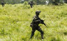 Ejército colombiano en zona fronteriza.