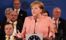 """""""La tarea de Europa es tomar su destino en sus propias manos"""", afirmó Merkel y destacó el valor de la unidad europea en las últimas décadas."""