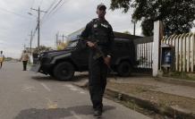 Destrucción. El 27 de enero una explosión con coche bomba dañó el 95 % del cuartel policial de San Lorenzo.