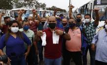 Protesta de choferes