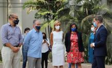 Reunión de los ministros con autoridades del colegio Alemán Humboldt de Guayaquil.