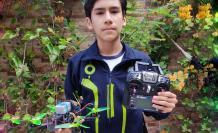 Estudiante crea dron