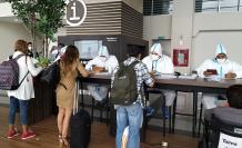 Los controles en el aeropuerto José Joaquín de Olmedo. Esta mañana.