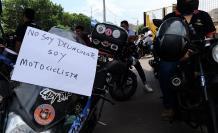 No somos delincuentes, el mensaje que dieron los motociclistas.