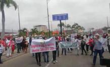 El lunes, cañicultores protestaron en Guayaquil.